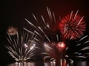 Italian team flares in Int'l Fireworks Competition