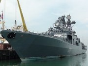 Russian warships visit Da Nang