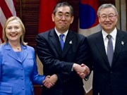 US, Japan, RoK raise conditions for six-party talks
