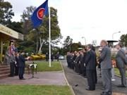 ASEAN flag hoisted
