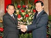 State President praises Hanoi-Vientiane relations