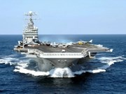 US aircraft carrier arrives