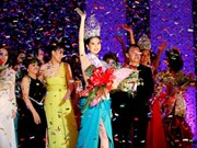 Ngoc Trinh crowned Miss Vietnam International