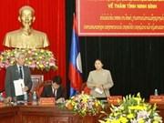 Lao NA President visits Ninh Binh province
