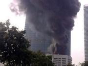 Fire hits Vietnam's tallest building