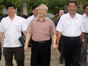 Party leader pays working visit to Kien Giang