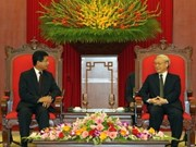 Party leader receives new Lao ambassador