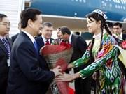 PM Dung begins official visit to Uzbekistan