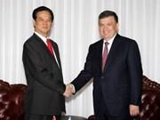 Prime Minister meets Uzbekistani leaders
