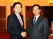 Former Japanese PM welcomed in Hanoi