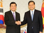State President Sang meets RoK leaders