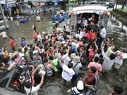 Floods recedes from central Bangkok