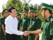 President visits An Giang province