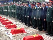 Remains of soldiers killed in Laos returned