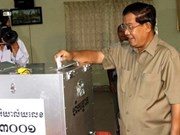 Cambodia's ruling party wins Senate majority