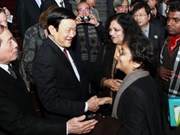 President welcomes foreign poets
