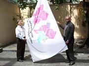 Olympic flag flying in HCM City