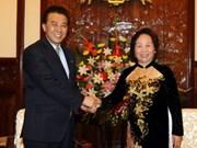 Vice President meets DPRK guests