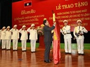 Laos honours Vietnamese guard high command