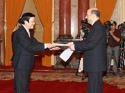 President Sang receives five incoming ambassadors