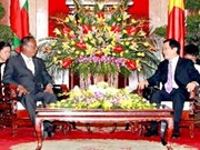President Sang welcomes top Myanmar lawmaker