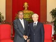 Party leader welcomes top Myanmar legislator