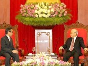 Party leader welcomes Indonesian FM