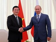 Vietnamese, Russian Presidents hold talks