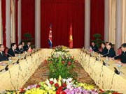 President holds talks with DPRK leader