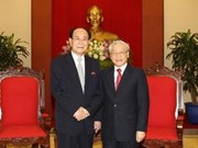 Party General Secretary receives DPRK leader