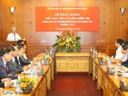 Lao officials study political theory