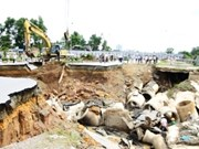 Officials discuss cause of major road collapse