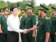 President Sang visits Binh Phuoc province