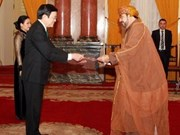 President Sang receives new ambassadors