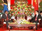 Vietnamese leaders meet Zanzibar President
