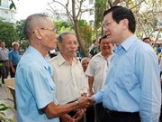 President Sang meets with HCM City's voters
