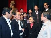 Legislature chief meets Ha Tinh voters