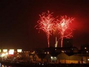 Nationwide fireworks to greet New Year