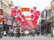 Tet celebrations bring Hanoi streets to life