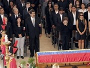 Leaders attend President Hugo Chavez's funeral
