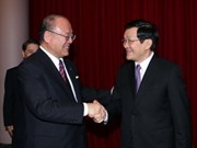 President hails contributions of Japanese MPs