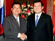 President welcomes Lao legislator