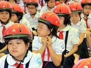 Helmets raise kids' awareness of traffic safety
