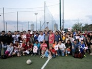 OVs in Italy host football tourney