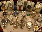 Luxury jewellery, watches on display