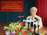 Party chief meets Ba Dinh voters
