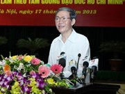 Campaign to follow Uncle Ho's moral example accelerated