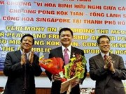 Singaporean diplomat's contributions recognised