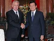 President greets Far East development minister