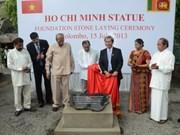 President Ho Chi Minh Monument erected in Sri Lanka